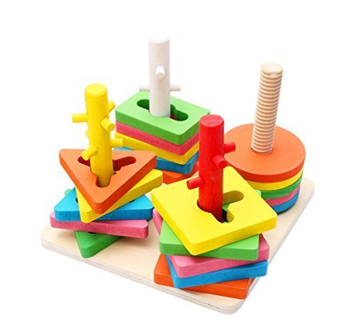 Lewo Creative Peg Puzzle Wooden Toys For Baby Educational Toy Gift for Kids