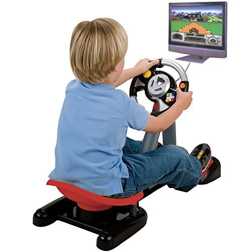 CP Toys Plug and Play Virtual Driver Interative Console with 30 Video Games