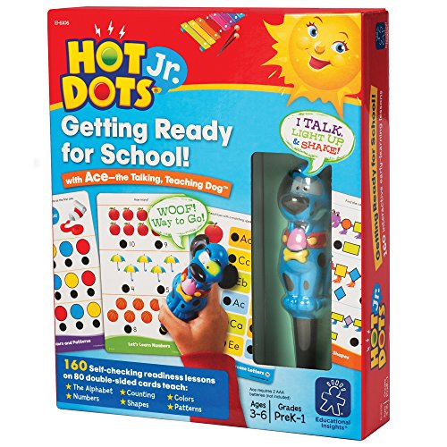EDUCATIONAL INSIGHTS HOT DOTS JR. GETTING READY FOR SCHOOL SET WITH ACE PEN