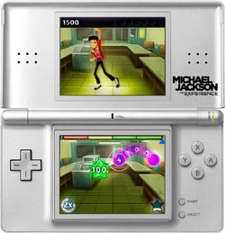 Dancing to Beat It in Michael Jackson The Experience for DS