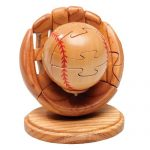 Brain Teasers Wood 3D Puzzle, BASEBALL