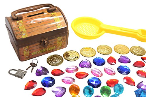 Toy Treasure Chest Beach : Pirate buried treasure themed sand toy with chest