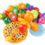 24Pcs Plastic Fruit Vegetable Kitchen Cutting Toy, YIFAN Early Development and Education Toy for Baby Kids Children