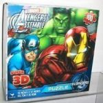 AVENGERS SUPER 3-D PUZZLE(3-in-1 pack)