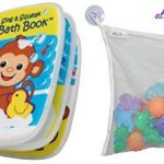 Bath Time V-Tech Sing and Squeak Bath Book and Atziloose Bath Toy Mesh Bag Organizer for Baby Bath Toys with Extra Large Suction Cups (2 Item Bundle)