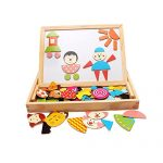 NT_Big Learning and Education Magnetic Puzzle Wooden Multifunction Writing Drawing Toys Board for Kids Imagination