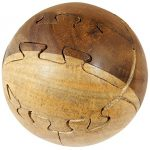 """Ball Large 3D Wooden Round Ball - Sphere Jigsaw Puzzle Brain Teasers - Handmade Wooden Toys and Game - 3"""""""
