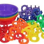 Preschool and Toddler Color and Shape Sorting Set with Sorting Bowls and Building Shapes - Early Learning Education Toy Busy Bag Activity