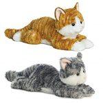 """Aurora World 12"""" """"Chester"""" Flopsie with Aurora World Flopsie Cat/Lily Plush"""