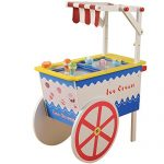 Constructive Playthings Wooden Ice Cream Cart Playset - For Pretend Play