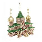 Kids Educational DIY 3D Puzzle Toys Wooden Assembly Traditional Russian Christmas Grand Chalet