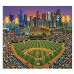 Dowdle Folk Art Puzzles - Detroit Tigers Puzzle, 500 Pieces