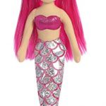 Aurora World Sea Sparkles Mermaid Plush, Garnet, Small