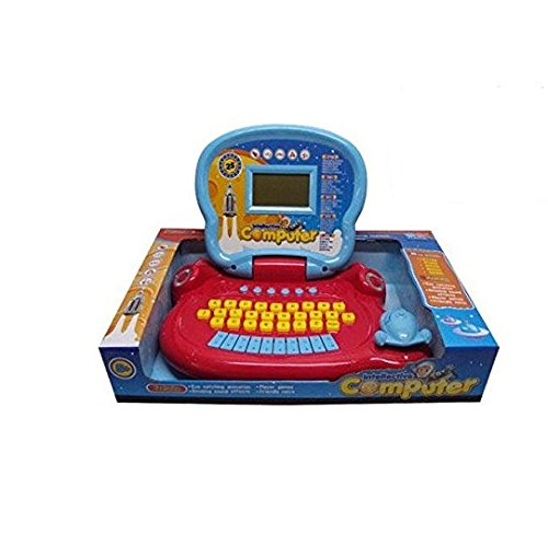 Lightahead Learning Machine Toy Portable Multi-function Intellective Laptop Featuring 25 Fun Activities Intelligent realistic learning machine Children Touch and Learn Educational Toy RED