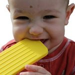 """Chew This Instead"" iPhone Shaped Baby Teething Toy, Yellow - Safe for Infants and Toddlers, Soft Silicone BPA free by Tootsie Mama"
