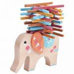 Kids Educational Toys Elephant Balancing Beam Blocks Wooden Toys Stacking Blocks Bar Game Building Sets