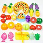 Formula? 24Pcs Plastic Fruit Vegetable Kitchen Cutting Toy Early Development and Education Toy for Baby Kids Children