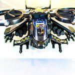 Futuristic Military Army Helicopter Plane JetFighter Toy, with Flashing Lights and Sound, Bump and Go Action