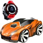 Toy RC Vehicles, CEStore Voice Control by Smart Watch w/ Light ON/OFF Commands, 5 Button Control Modes & 8 Voice-Activated Modes, 15-25 Meters Remote Control Distance, Speed Up to 4KM/H -8KM/H-Orange
