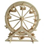 STONG 3D Jigsaw Woodcraft DIY Assembly Construction Model Ferris wheel Handcraft Educational Products Wooden Art jigsaw puzzle toys for DIY handmade Toy or Hobby Decorative