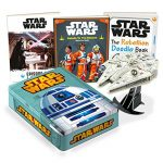 Star Wars R2D2 Tin With Millennium Falcon Model Book Set
