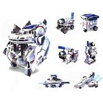 Green Energy 7in1 Assembly Rechargeable Solar Power Car Robot Kit Toy for Kid XW