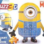 Stuart the Minion, 3D foam backed puzzle, 91 beginner, Birthday gift.