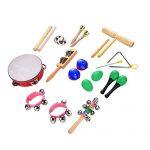 BIBNice Kids Musical Instruments Percussion Toy Rhythm Band Value Set (12 PCS)