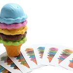 Ice Cream Shop - Ice Cream Cone with Pattern Cards - Pretend Play, Play Food for Kids Kitchen