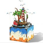 TonTech Newest 3D DIY Jigsaw Puzzle Creative Toy Island Castle In the Sky Music Box AM407