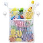 Bath Toy Organizer - Baby Toy Storage Mesh Bag + 4 Strong Suction Cups,Bath Tub Toy Storage Mesh Bag Tidy Suction Net.
