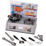 Stove Top with Air Vent, Pots and Utensils, Kitchen Appliance Toy, Pretend Play 10+ Pcs