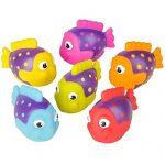 """Go Fishing! Bath Toys - 12 Pack Squirting Bath Toys 2"""" Rubber School of Tropical Fish Squirts Baby and Children Bath Toys in Assorted Vivid Colors 1 Dozen"""
