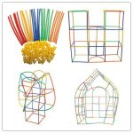 Straw Constructor Interlocking Plastic Enginnering Toys-Colorful Building Toys- Fun- Educational- Safe for Kids- Develops Motor Skills-Construction Blocks- Best Gift for Boys and Girls
