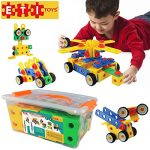 ETI Toys-92 Piece Educational Construction Engineering Building Blocks Set for 3, 4 and 5+ Year Old Boys & Girls. Pure Engaging Fun & STEM Learning Kit! The Best Toy Gift for Kids Ages 3yr - 6yr.