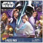 Super 3D Lenticular Puzzle - Star Wars Set - 5-Pack