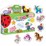 Roter Kafer Refrigerator Magnets for kids Farm Animals (31 pcs) - Fridge Magnetic set for Toddlers - Kid magnets Toddler toys