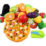 LoveS 24pcs Cutting Fruit Vegetable Kitchen Pretend Food Play Set Educational Toy For Children Kids
