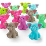 """12 Pack Squirting Bath Toys 2"""" Rubber Elephant Squirts Baby and Children Toys in Assorted Pastel Colors 1 Dozen"""