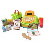 Wishland Pretend Play Electronic Cash Register Toy Realistic Actions Sounds