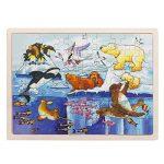 Jigsaw Puzzle, FINER 60-Piece Polar Animals Wooden Jigsaw Puzzle Baby Kids Children Educational Toy