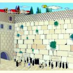 Judaica Children 3D Plastic Picture Praying At The Kotel Western Wall Wall Hang
