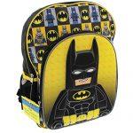 Lego Batman 16 inch School Backpack (Black/Yellow)