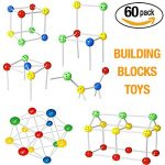 Stacking Toys Build Blocks 60 Pcs Building Blocks for Toddlers Kids Boys Girls Teenagers and Preschool 3D Puzzles