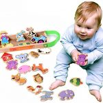 Onshine Refrigerator Magnets Farm Animals Magnetic Wooden puzzle Educational Toys