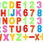 Magnetic Letters And Numbers, Refrigerator Magnets For Kitchen, Magnetic Alphabet Letters, Numbers And Math Symbols Set For Kids - Educational, Learning Resources, 52 Pieces.