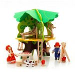 Children's DIY Wooden 3D Puzzle Tree Doll House Demolition Assembled Portfolio Model Early Childhood Educational Play Toys Gift
