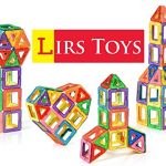 Lirs Toys Set of 30-Pcs Magnetic Building Blocks - Magnetic Building Tiles for kids/toddlers age 3+,Premium 3D Magnetic Stick N Stack Blocks Construction Playboards,Recreational & Educational for boys
