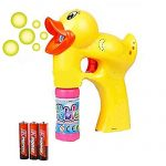 Duck Bubble Shooter Gun Toy With Sounds and Music-2 Bottles of Solution and Batteries