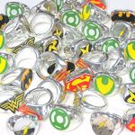 DC Superhero Novelty Power Rings 4 Dozen (48 Rings)